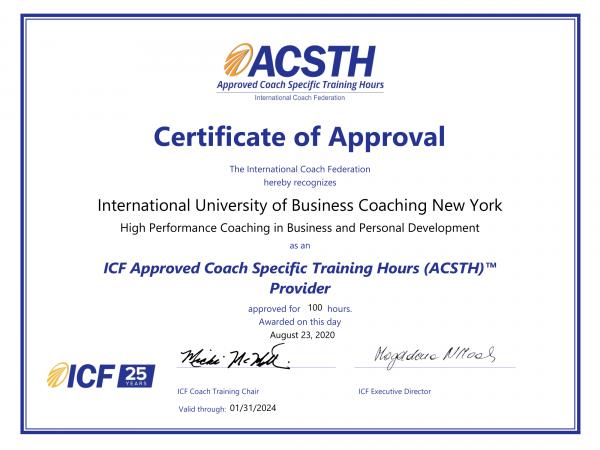 IUBC LLC ACSTH Certificate-1